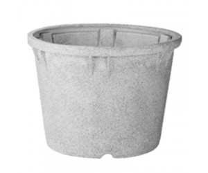 "20"" Duro No. 50 Stone Finish Planter ( Light Gray )"