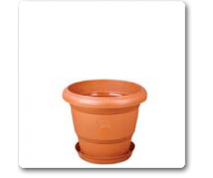 """4.7"""" Green Planter. No. 6 With Plate"""