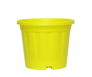 """8"""" XL Grower Plastic Pot ( Lime Yellow ) - Pack of Three"""