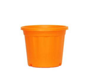 "8"" XL Grower Plastic Pot ( Orange ) - Pack of Three"