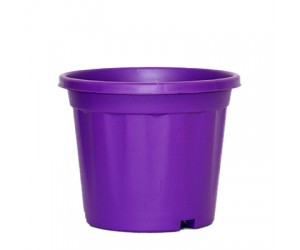 "8"" XL Grower Plastic Pot ( Purple ) - Pack of Three"