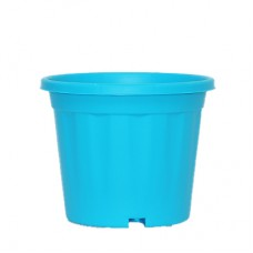 "8"" XL Grower Plastic Pot ( Sky Blue ) - Pack of Three"