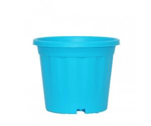 "8"" XL Grower Plastic Pot ( Sky Blue ) - Pack of Three"