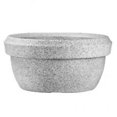 "22"" Lotus Bowl No. 60 Stone Finish Planter ( Light Gray )"