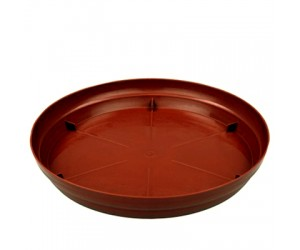 """Round Plastic Plate, Tray for 3"""", 4"""", 4.5"""" Pots (Terracotta)"""