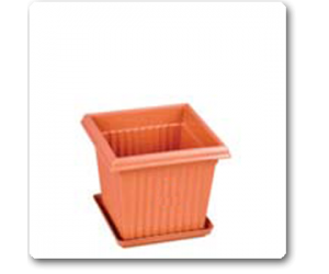 """7.8"""" Square Planter No. 8 With Plate"""