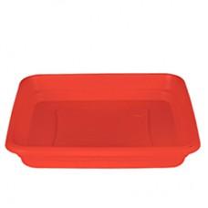 "Square Plastic Plate, Tray for 23.6"" Classic No. 60 Planter (Terracotta)"