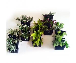 """8"""" Vertical Garden Pots with bracket ( Black )"""